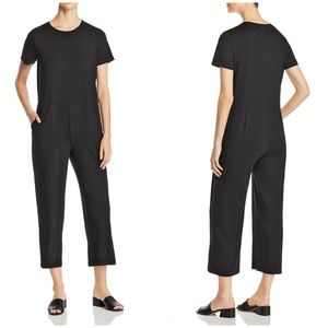 Eileen Fisher Short-Sleeve Cropped Jumpsuit